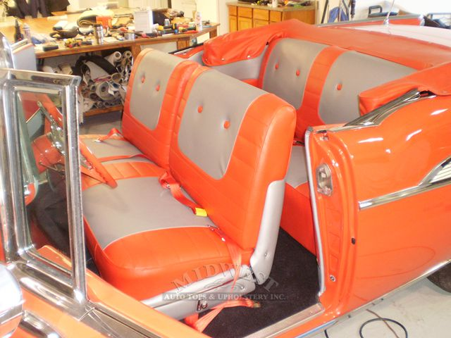 Midwest auto tops upholstery 1957 orange chevy - Chevrolet replacement parts interior ...