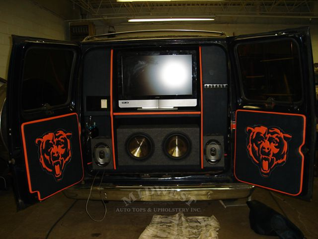 Midwest Auto Tops & Upholstery - Chicago Bears Van
